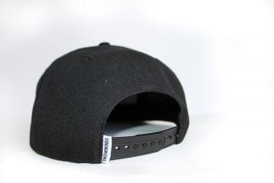 Snapback Cap Unisex - Black OneSize