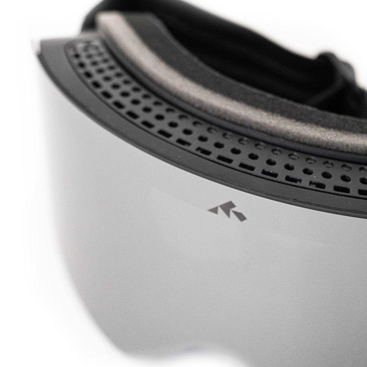 SNOWMINDS Magnet Goggle + 3 Lenses & Hardcase Unisex - Black OneSize