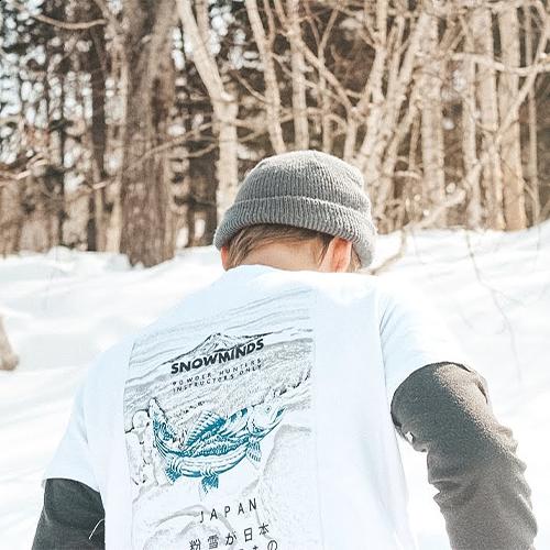 Ski t-shirt - JaPow Hunt Tee - White - Unisex