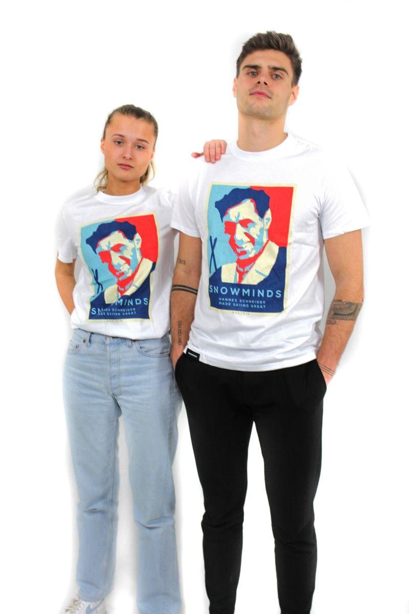 Ski t-shirt - Godfather Tee Unisex - White
