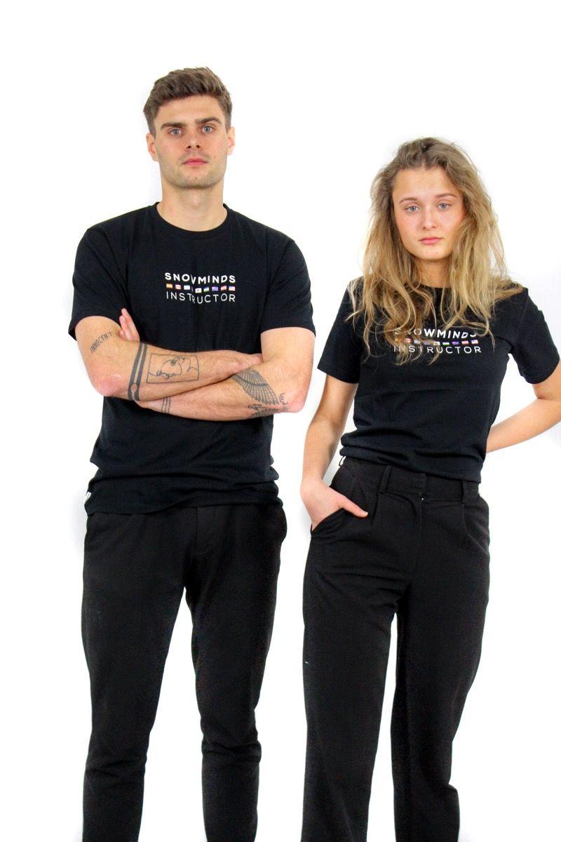 Ski t-shirt - Instructor Flags - Black - M