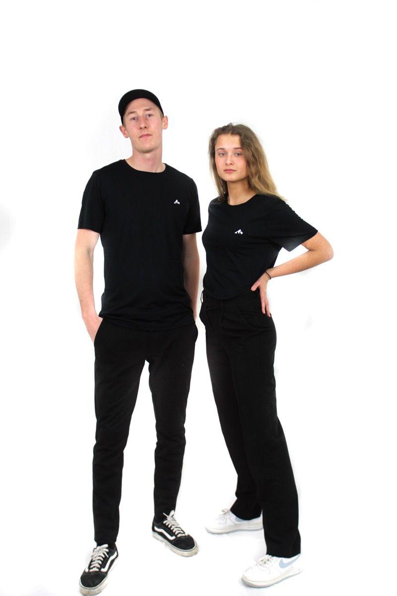 Merino Wool Tee - Logo Tee -  Black - Unisex